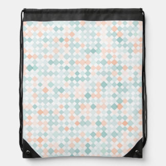 Abstract background with mixed small spots drawstring bag
