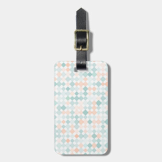 Abstract background with mixed small spots luggage tag