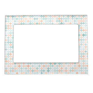 Abstract background with mixed small spots magnetic frame
