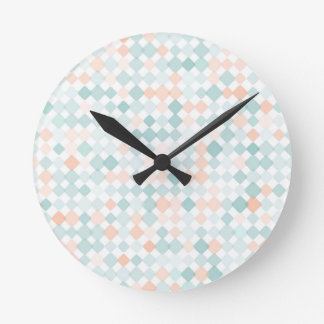 Abstract background with mixed small spots round clock