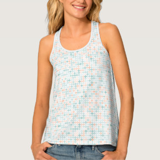 Abstract background with mixed small spots tank top