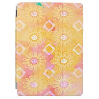 Abstract Background Yellow White & Pink Watercolor iPad Air Cover
