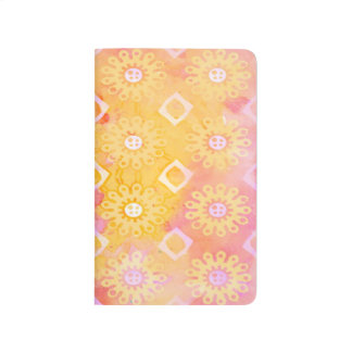 Abstract Background Yellow White & Pink Watercolor Journal