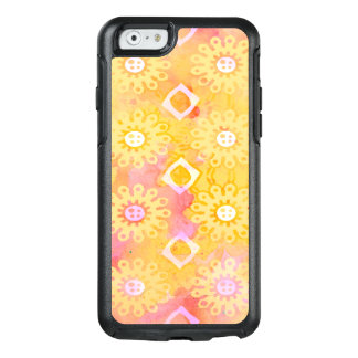 Abstract Background Yellow White & Pink Watercolor OtterBox iPhone 6/6s Case