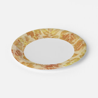 Abstract backgrounds, watercolor, leaves paper plate