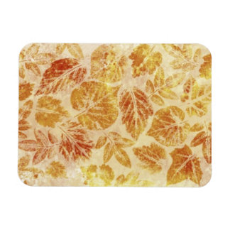 Abstract backgrounds, watercolor, leaves rectangular photo magnet