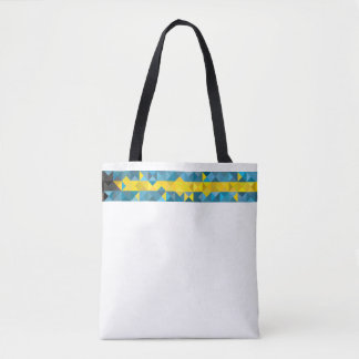 Abstract Bahamas Flag, Bahamian Colors Bag