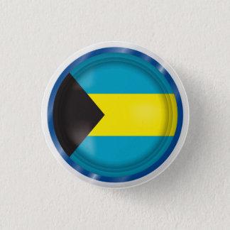 Abstract Bahamas Flag, Bahamian Colors Button