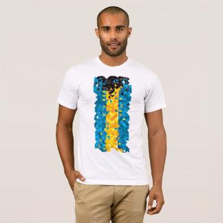 Abstract Bahamas Flag, Bahamian Colors, t-shirt
