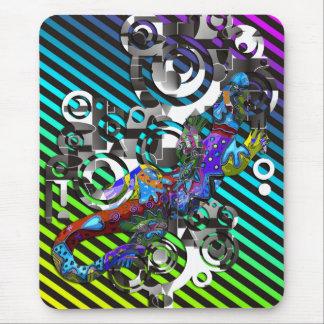 Abstract BALI Gecko | coloured stripes Mousepad