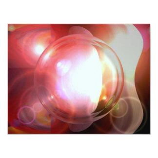 Abstract Ball 11 Cm X 14 Cm Invitation Card