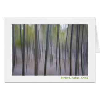 Abstract Bamboo Card