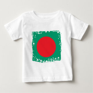 Abstract Bangladesh Flag, Bangladech Colors Baby T-Shirt