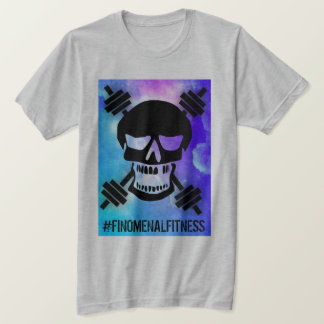 Abstract Barbell Skull T-Shirt