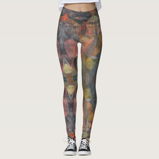 "Abstract Based on Paul Klee's ""Das Hotel"" Leggings"