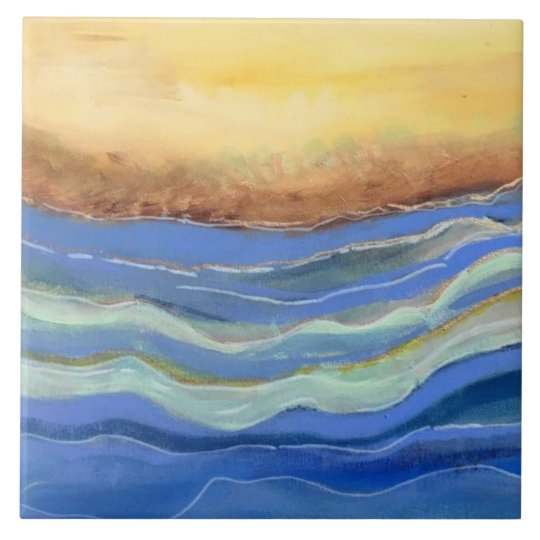 Abstract Beach Ceramic Tile