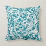 Abstract Beach Glass Pattern in Turquoise Cushion