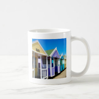 Abstract Beach Huts Basic White Mug