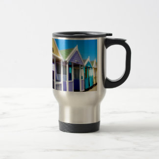 Abstract Beach Huts Stainless Steel Travel Mug
