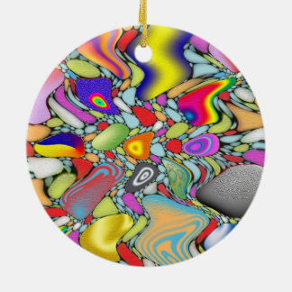 Abstract Beach Pebbles Christmas Ornament