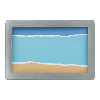 Abstract beach, sea and sky belt buckle