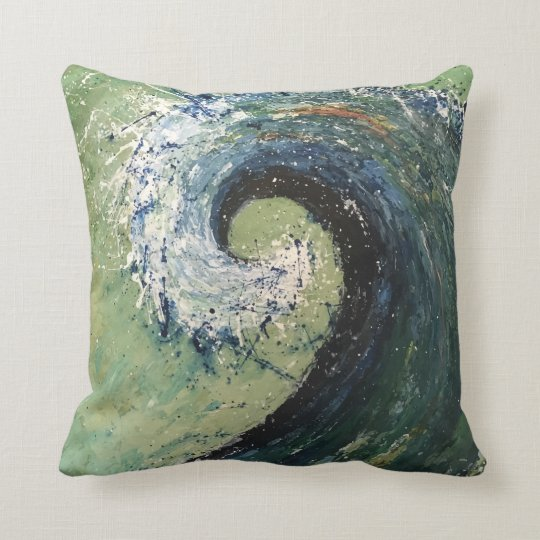 Abstract Beach Wave Fine Art Cushion