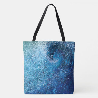 Abstract Beach Wave Fine Art Painting Tote Bag