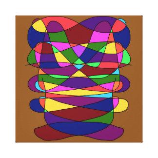 Abstract Bear Design Artwork Canvas Print