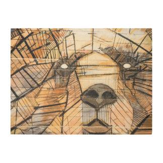 Abstract Bear | Wood Panel Wall Art