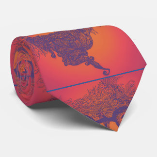 Abstract Beard Apparel Tie