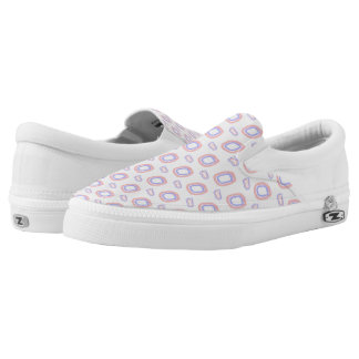 Abstract Bedrock Slip On Printed Shoes