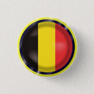 Abstract Belgium Flag, Belgian Colors Button