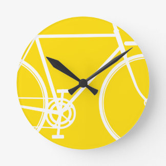 Abstract Bicycle Wall Clock