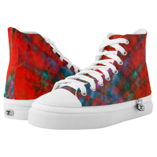 Abstract Big Bangs 001 Multicolored 2 High Tops