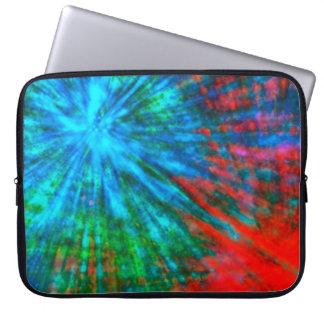 Abstract Big Bangs 001 Multicolored Computer Sleeves