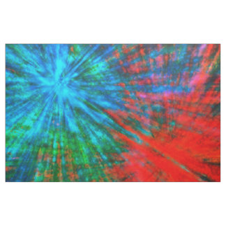 Abstract Big Bangs 001 Multicolored Fabric
