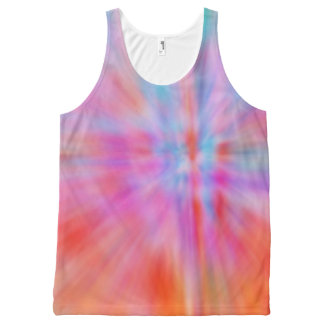 Abstract Big Bangs 002 Multicolored All-Over Print Tank Top