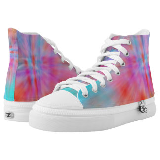 Abstract Big Bangs 002 Multicolored High Tops