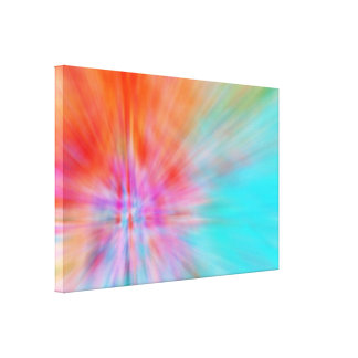 Abstract Big Bangs 002 Stretched Canvas Print