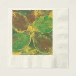 Abstract Birch Tree Autumn Leaves Paper Napkins