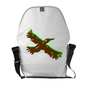Abstract Bird Courier Bag