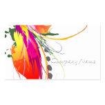 Abstract Bird of Paradise Paint Splatters