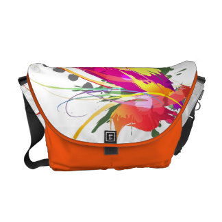Abstract Bird of Paradise Paint Splatters Courier Bags