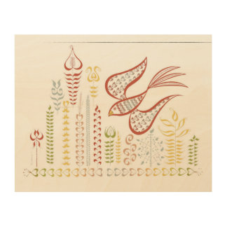 Abstract Bird Wood Prints