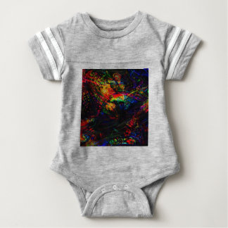Abstract Birds and Butterflies Baby Bodysuit