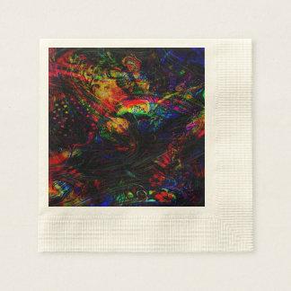 Abstract Birds and Butterflies Paper Serviettes