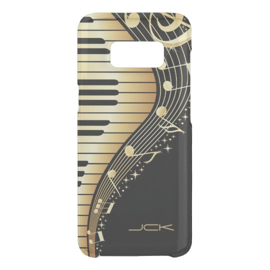 Abstract Black And Gold Music Notes Design Uncommon