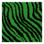 Abstract Black and Green Jungle Print Pattern.
