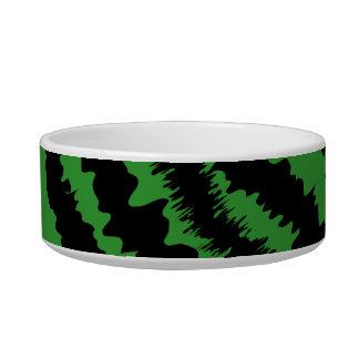 Abstract Black and Green Jungle Print Pattern. Bowl