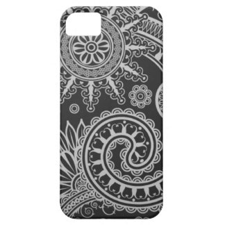 Abstract Black and Grey Floral Pattern iPhone 5 Covers